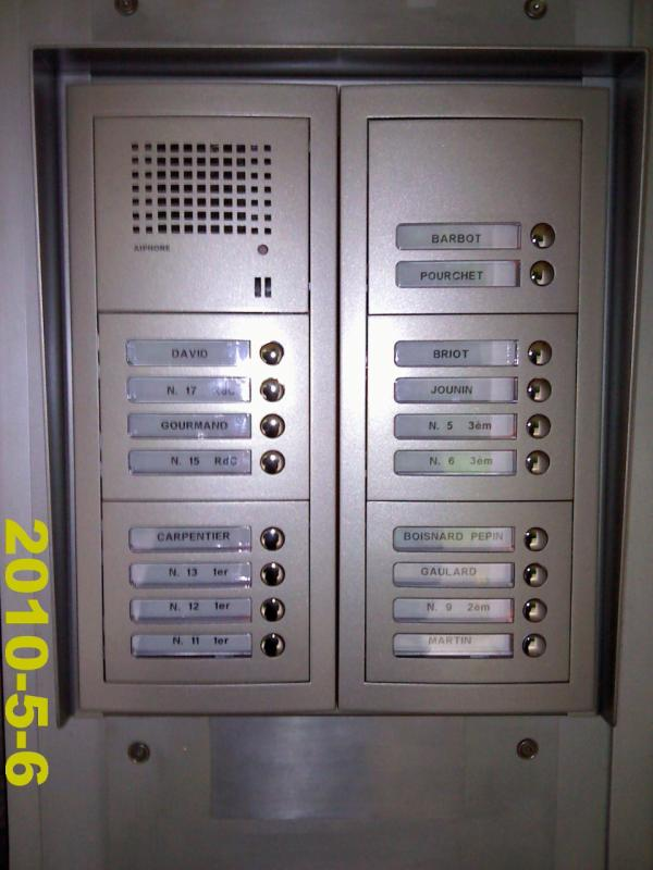 Platine interphone modulaire